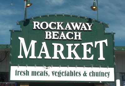 photo of a sign in rockaway beach oregon