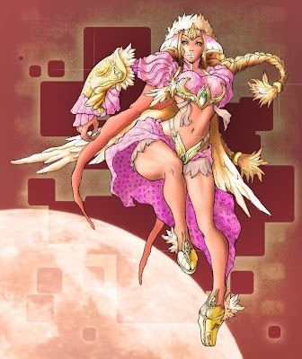 deviant art warrior princess pretty in pink