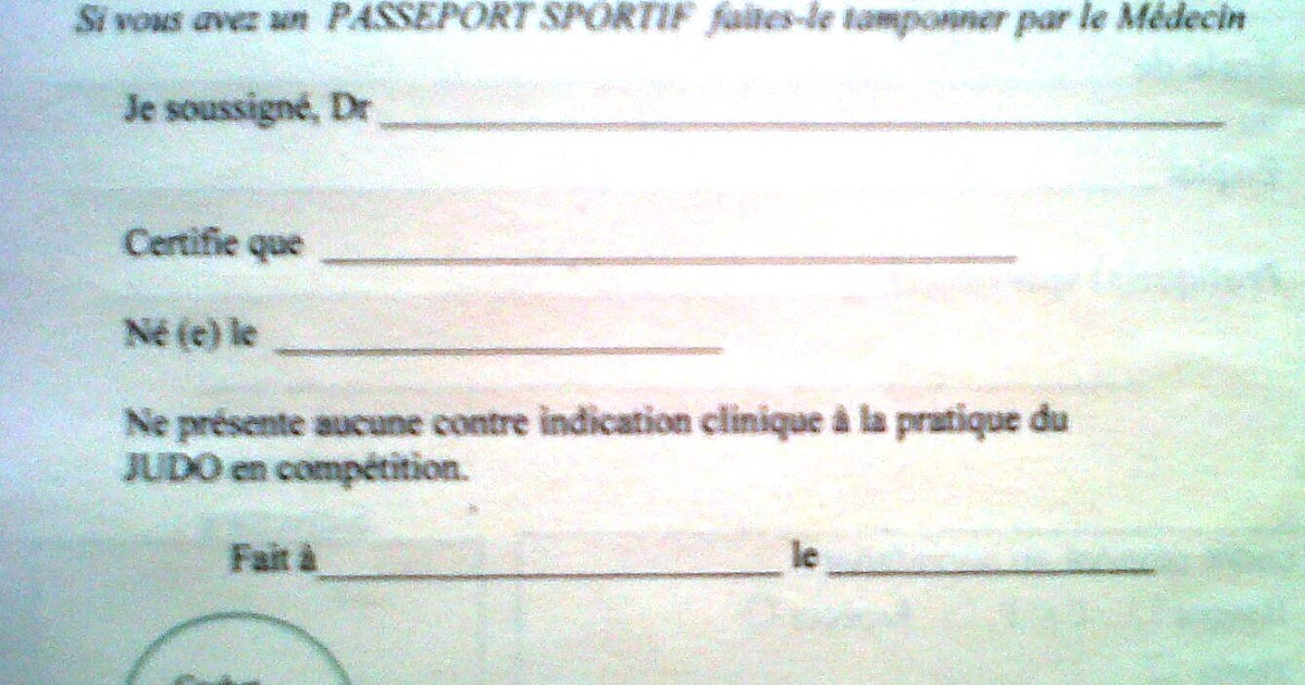 A Mother in France Certificat Medical Sportif Why – Medical Certificate for School
