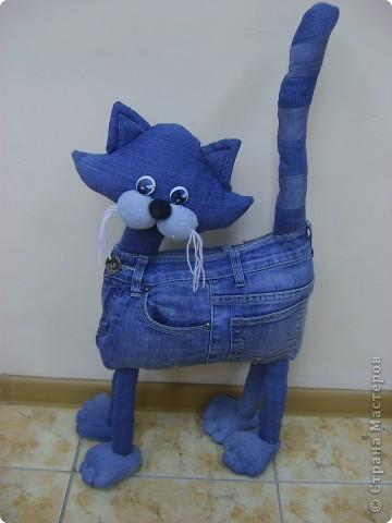 Сшить кота из джинсовой ткани 72