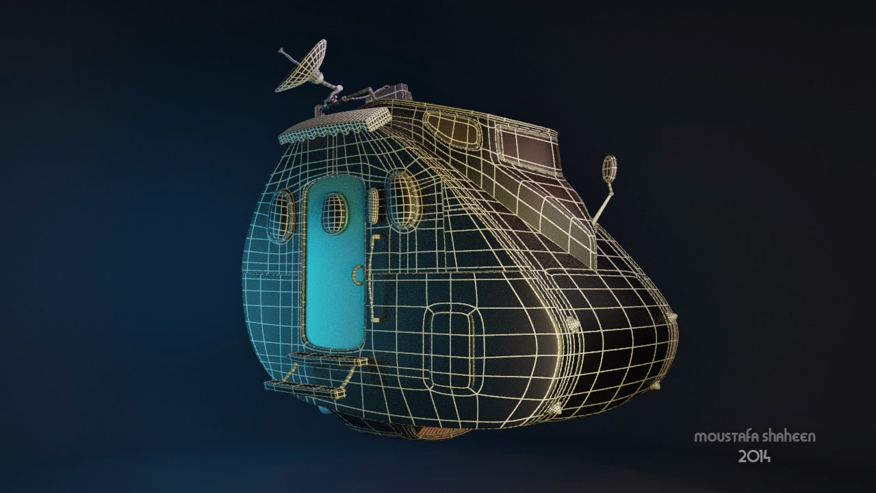 flying car  wireframe