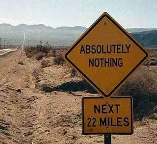 funny sign: american road absolutely nothing