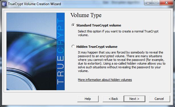 TrueCrypt - Standard Volume