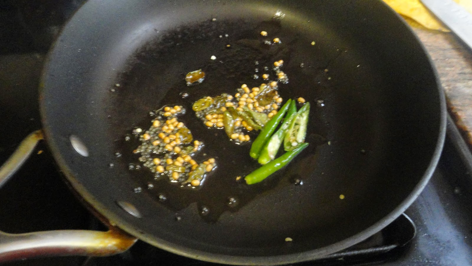 green chilies added