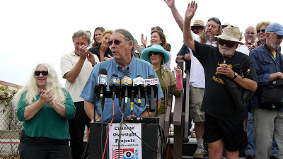 Anti-nuclear activists hold press conference.