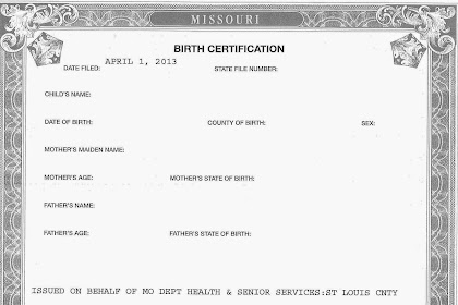 Adoption Birth Certificate Missouri