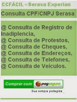 Consulta Serasa - CPF, Cheques, Protestos, Inadimplencia