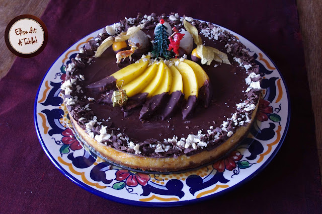 cheesecake spéculoos, caramel et chocolat