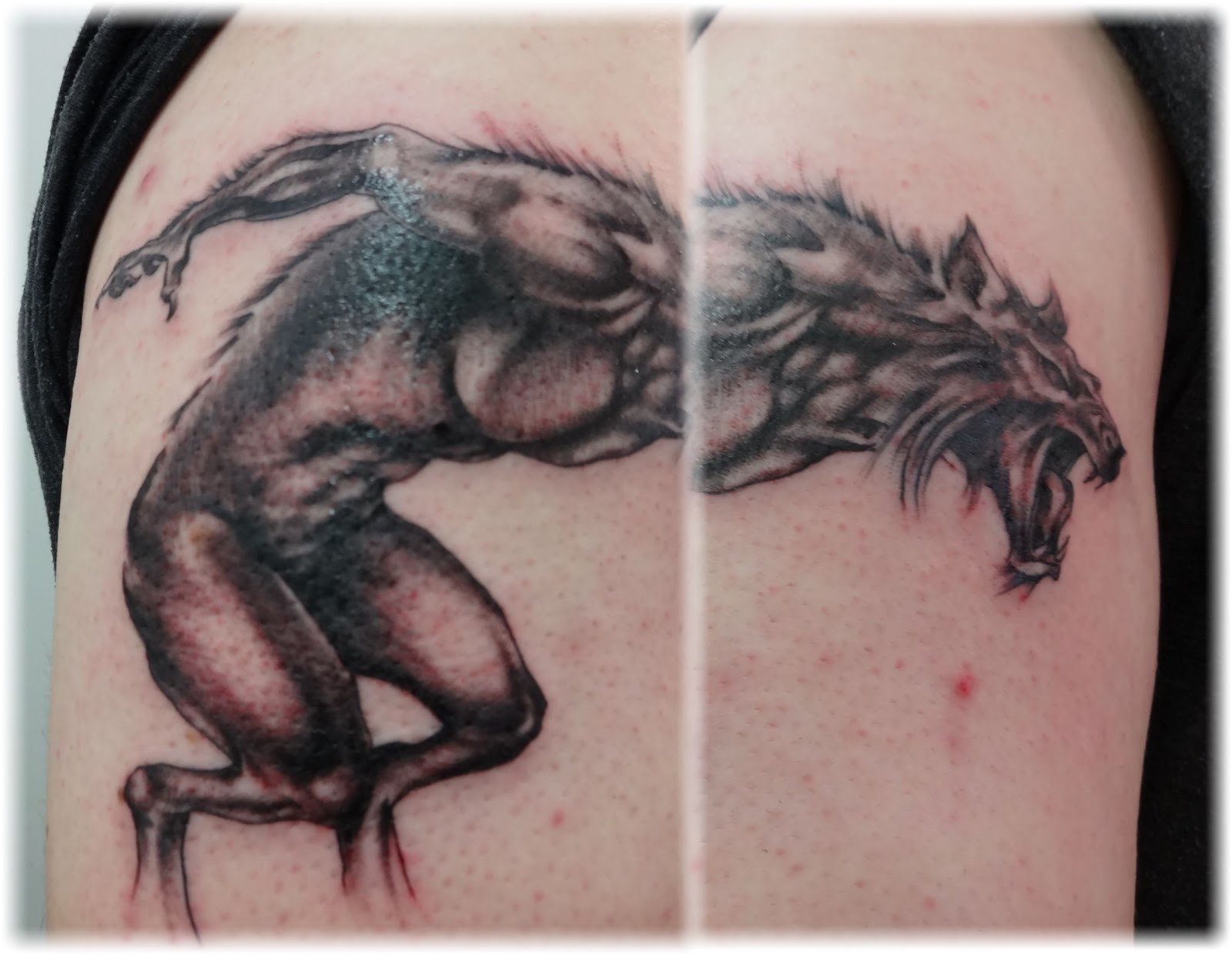 Werewolf Sleeve Tattoos