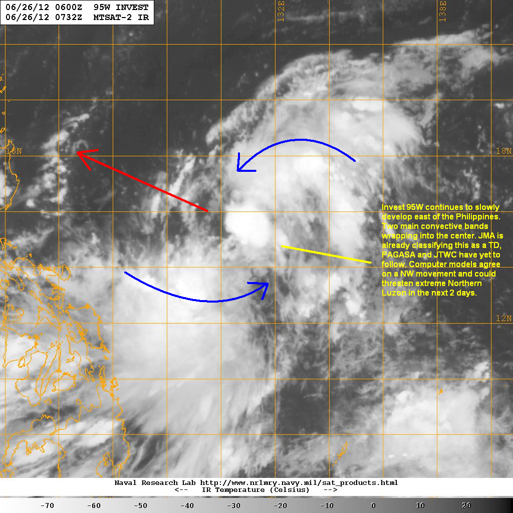 however most of the models are not really expecting a strong storm out of 95w as it moves across the philippine sea
