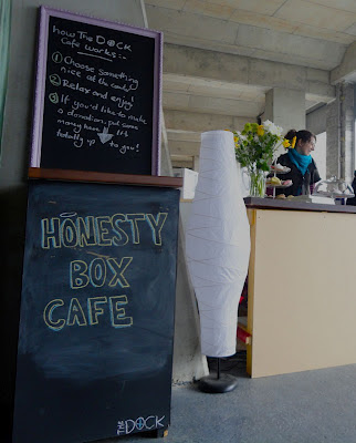 The Dock Cafe bar - honesty box
