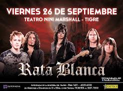 "RATA BLANCA EN EL ""TEATRO NINÍ MARSHALL"" - 26/09/2014"