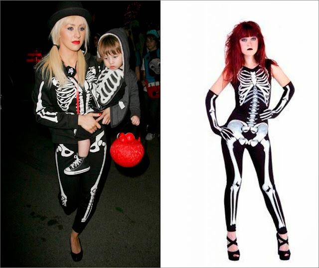 Christina Aguilera disfraz esqueleto y, disfraz de esqueleto.