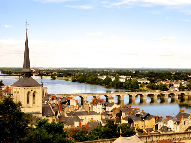 View of Saumur from the château, in the Loire Valley of France