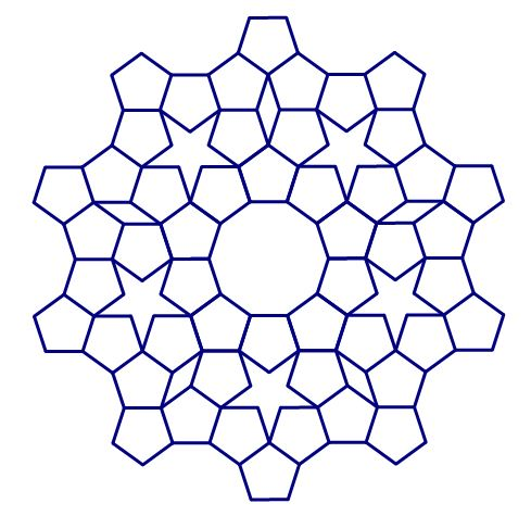 mathrecreation: out from a ring of pentagons
