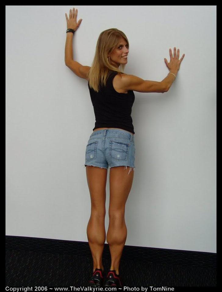 Lindsey Boswell Flexing Her Massive Calves