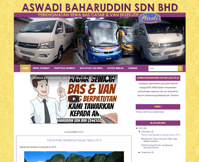 Tempahan Design Blog Wadi Bas & Van