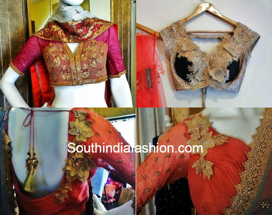latest blouse designs by anjali sharma