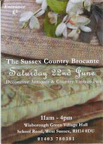 Sussex Country Brocante Wisborough Green village hall Saturday 8th March 11-4pm