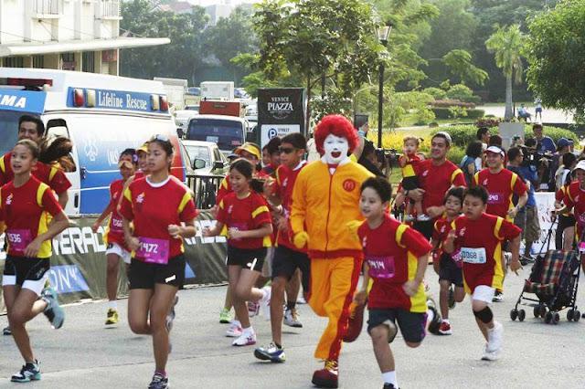 Ronald McDonald running