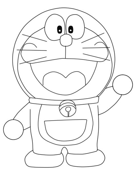 Menggambar Doraemon Mudah 9komik Hapus Garis Bantu Hasilnya Tampak Gambar