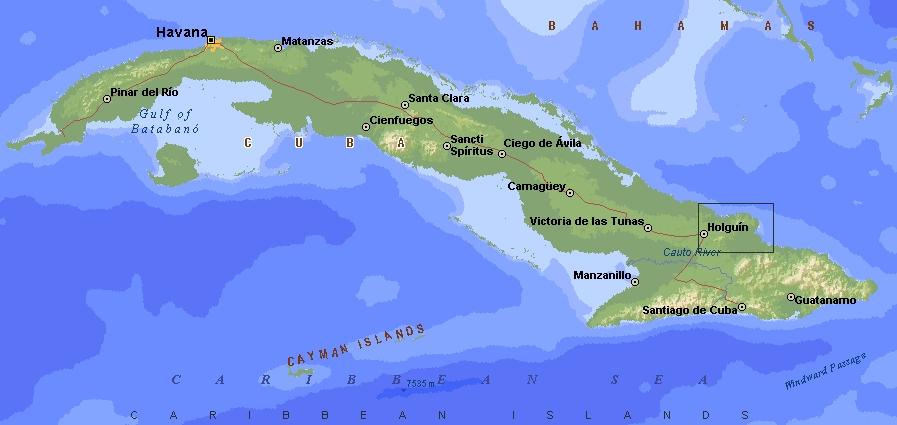 mapa de la habana cuba