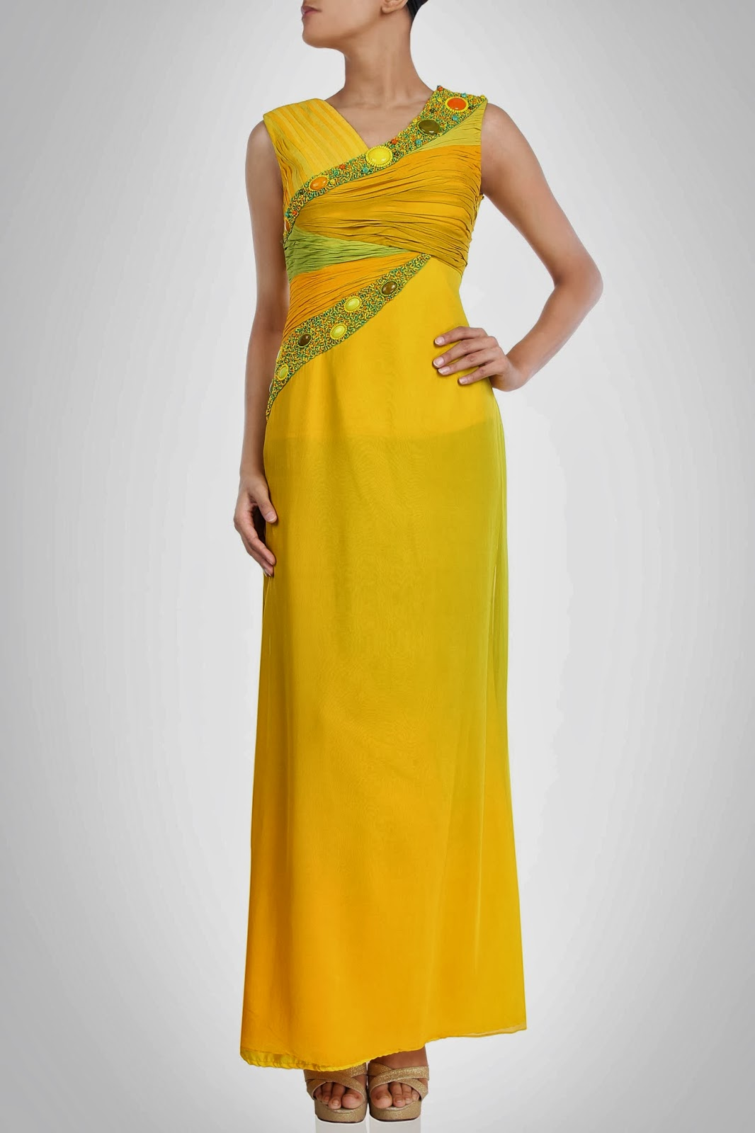 New Collection Of Designers Indian Style Maxi Dresses 2014 Vega Fashion Mom
