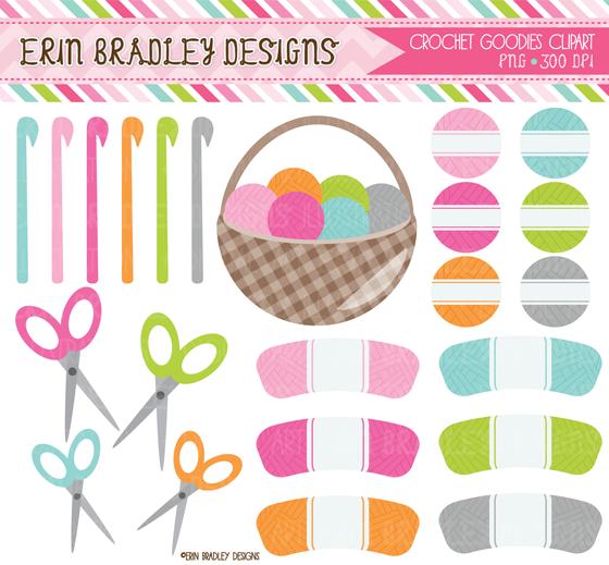 Crocheting Clipart : Erin Bradley Designs: New Crochet Clipart & Ric Rak Graphics