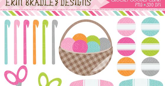 Erin Bradley Designs: New Crochet Clipart & Ric Rak Graphics