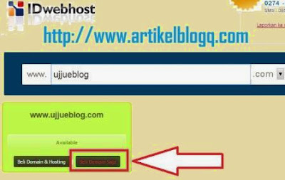 Gambar panduan Cara Beli Domain Di Idwebhost.com