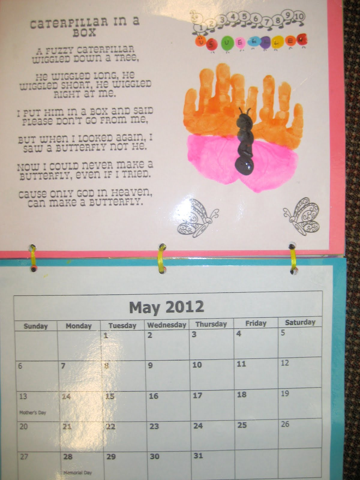 Monthly Calendar Rhyme : Ms ashlee s abc  handprint calendar