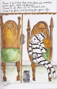 """Zebra Cartoon """"Confessional"""""""