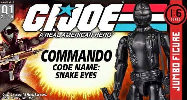 "Snake Eyes 12"" Jumbo Vintage G.I. Joe: A Real American Hero Action Figure by Gentle Giant"