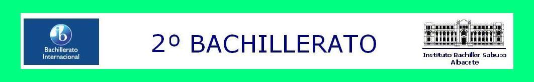 2º BACHILLERATO INTERNACIONAL