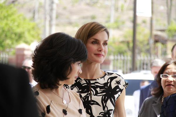 Queen Letizia of Spain visited the Universidad Nacional Autonoma de Honduras on May 26, 2015 in Tegucigalpa.