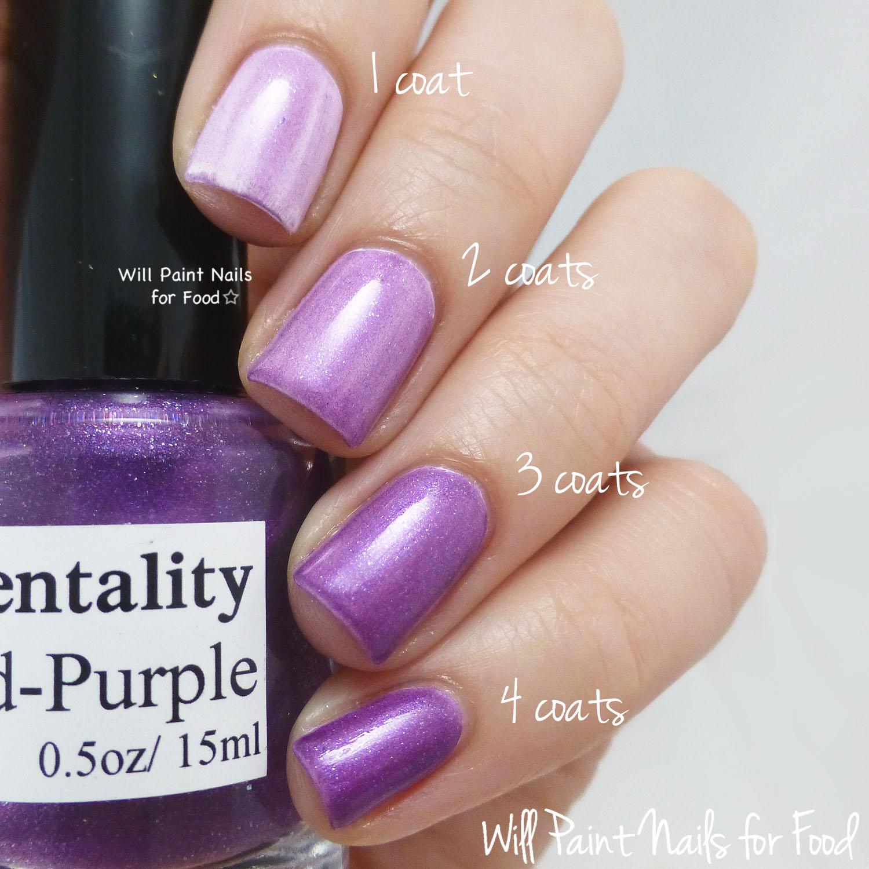 Mentality Nail Polish Glaze Red-Purple swatch
