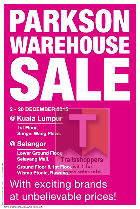 Parkson Rawang Warehouse Sale 2015