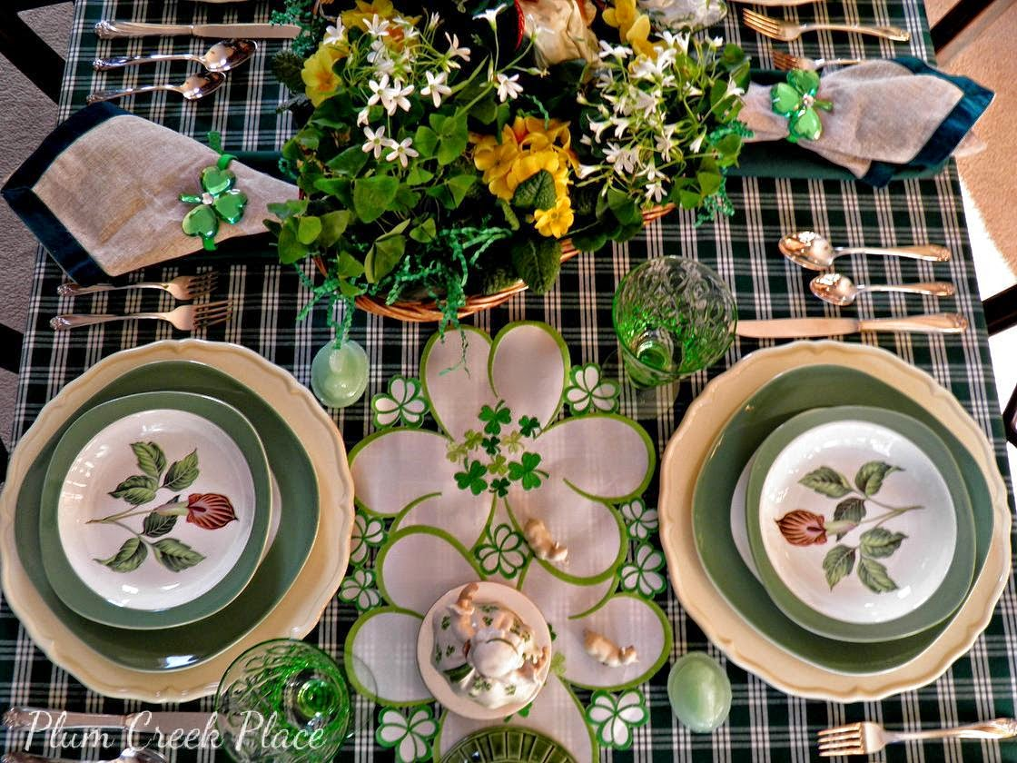 Saint Patrick's Day table setting