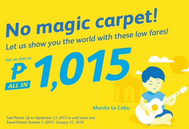 Manila to Cebu Promo Fare CebuPac 2016