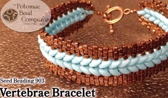 Offset Superduo Beaded Bracelet Tutorials