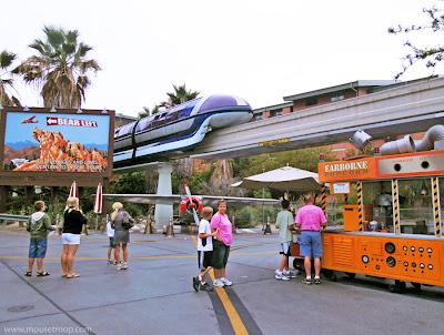 Monorail Disney California Adventure Disneyland Condor Flats