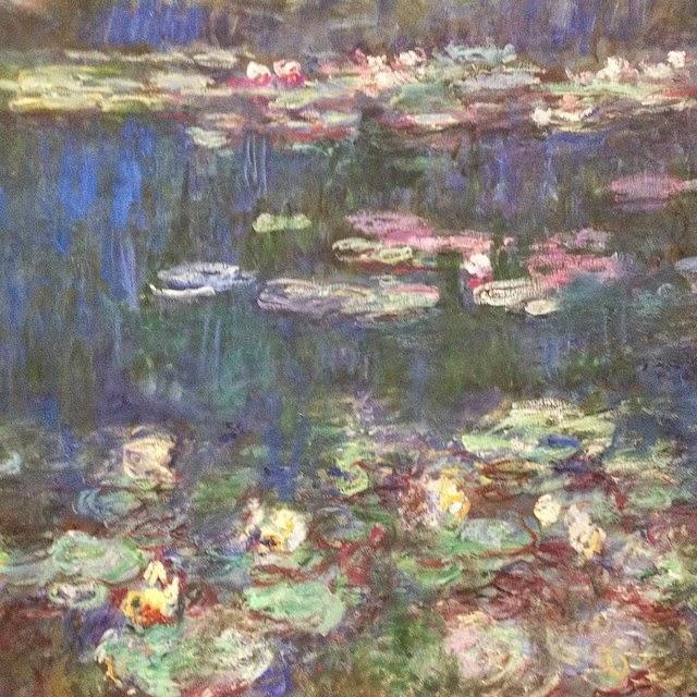 Claude Monet waterlilies in the Musee d'Orangerie, Paris