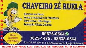 REBOQUE E CHAVEIRO ZÉ RUELA
