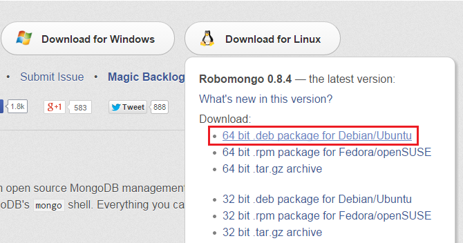 DB: MongoDB Administration: RoboMongo on Ubuntu