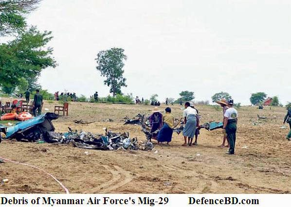 Mig-29 of Myanmar Air Force crashes