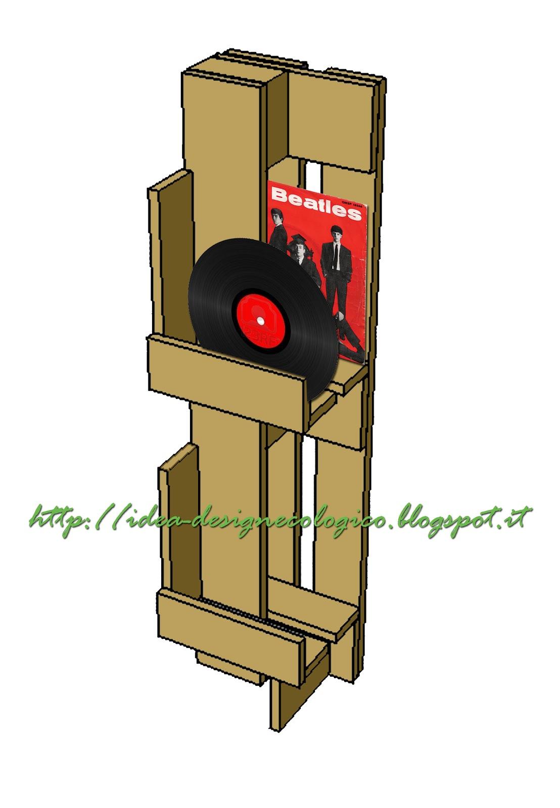 Idea design ecologico progetto mobile dischi 33 giri - Mobile porta dischi vinile ...