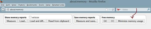 تقليل استهلاك الرام في متصفح فايرفوكس