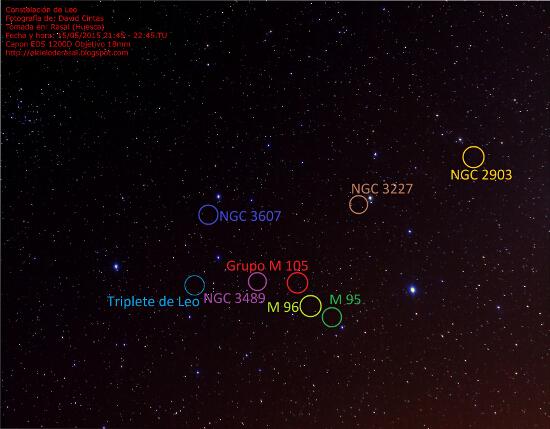 Constelacion de Leo - Objetos celestes - El cielo de Rasal