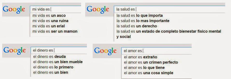 Sugerencias de búsqueda de Google