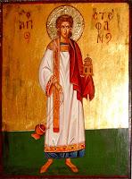 Sfantul Arhidiacon Stefan, pictura pe lemn